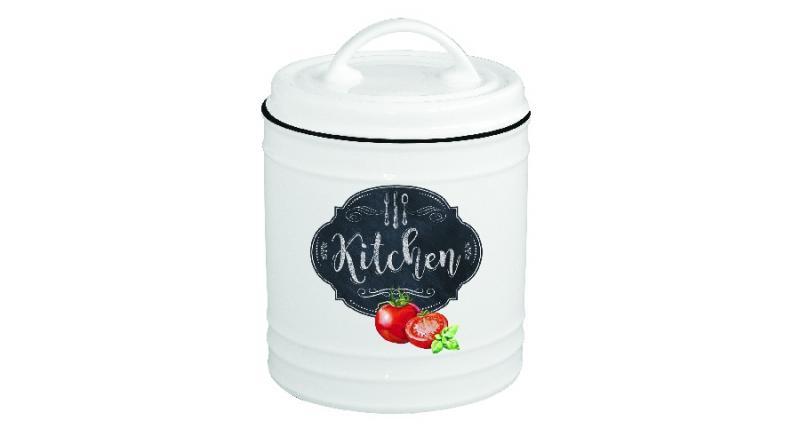 R2S.1620KIBK Porcelán konyhai tároló 10x15cm, kerek, Kitchen Basics