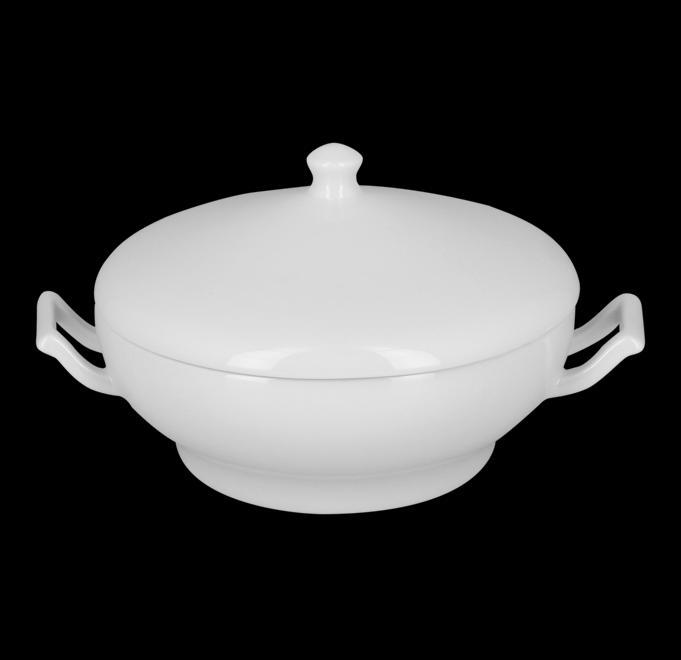 RAK BUFFET porcelán leveses tál fedővel, 2 fülű, BUST27