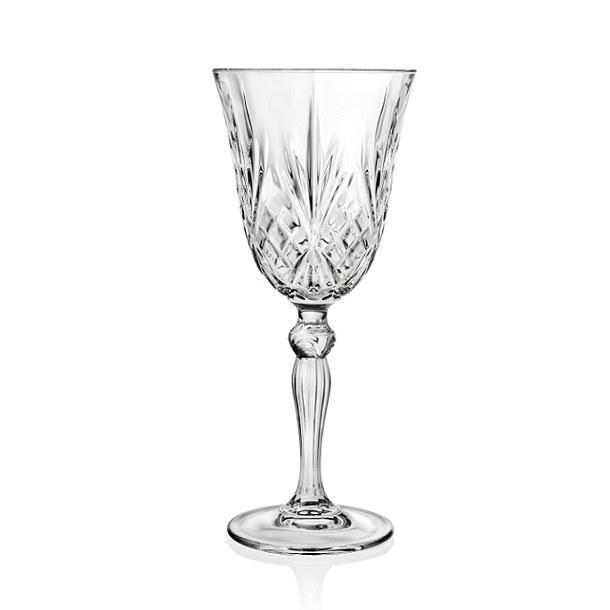 RCR Cristalleria Italiana Melodia boros pohár készlet, 27 cl, 6 db,