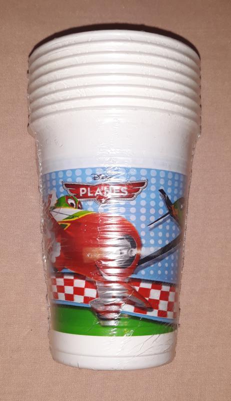 Repcsik ( Planes) műanyag pohár, 200 ml, 8 db,