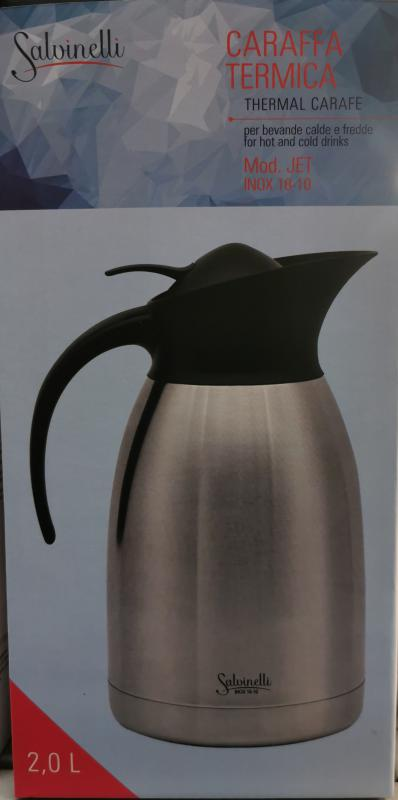 Salvinelli Jet rozsdamentes acél kancsó, 2 liter, 430498