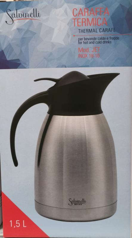 Salvinelli Jet rozsdamentes kancsó, 1,5 liter,  430497