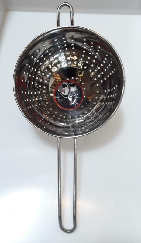 Salvinelli rozsdamentes nyeles tésztaszűrő, 16 cm, 430097