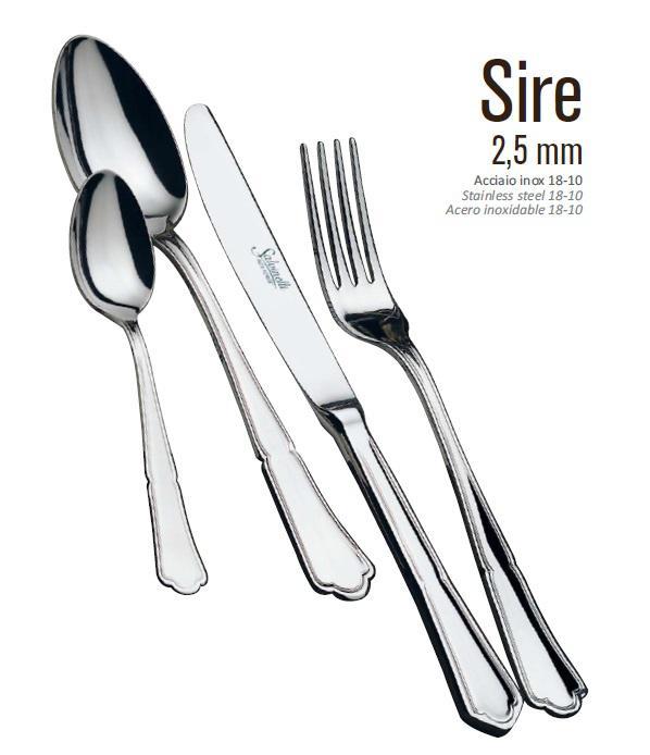 Salvinelli SIRE evőeszköz készlet 24 részes,  2,5 mm