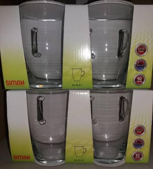 SIMAX hőálló bögre, 40 cl, 4 db, 401002