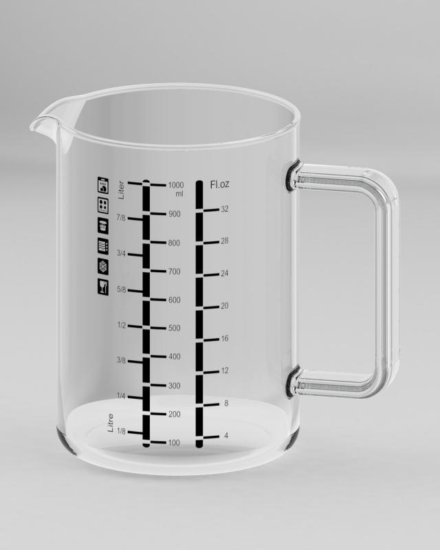 SIMAX hőálló mércés kancsó, 1 liter, 401014