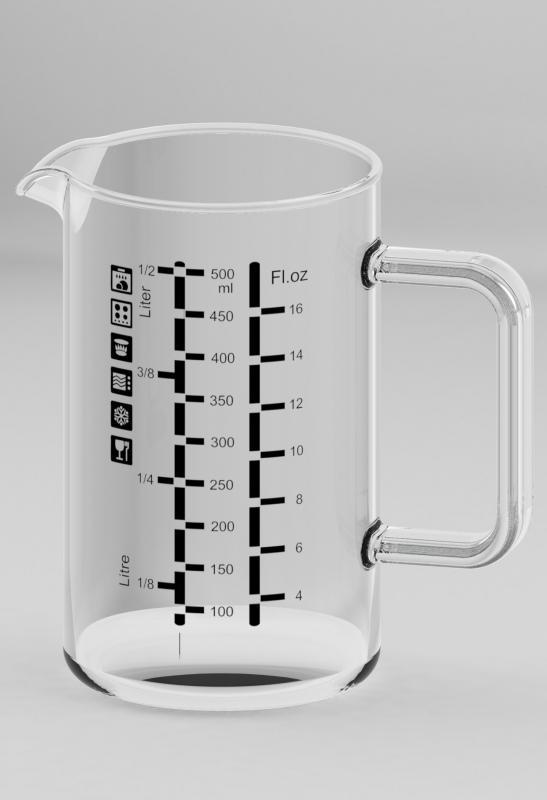 Simax hőálló mércés kancsó, 500 ml-ig, 401106