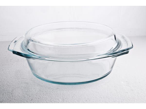 Simax kerek sütőtál, 2 liter+0,9 liter fedő,