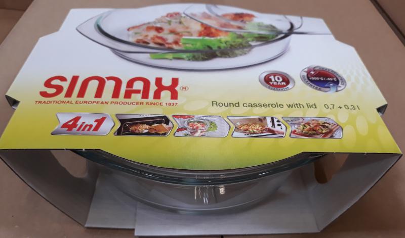 Simax üvegtál, kerek, 0,7 liter+0,3 liter, 401019
