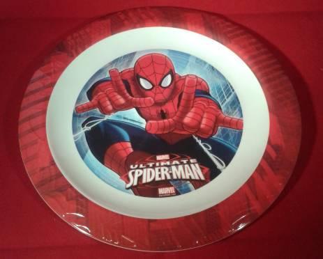 Spiderman Ultimate lapos tányér, műanyag, 22 cm, Q673616