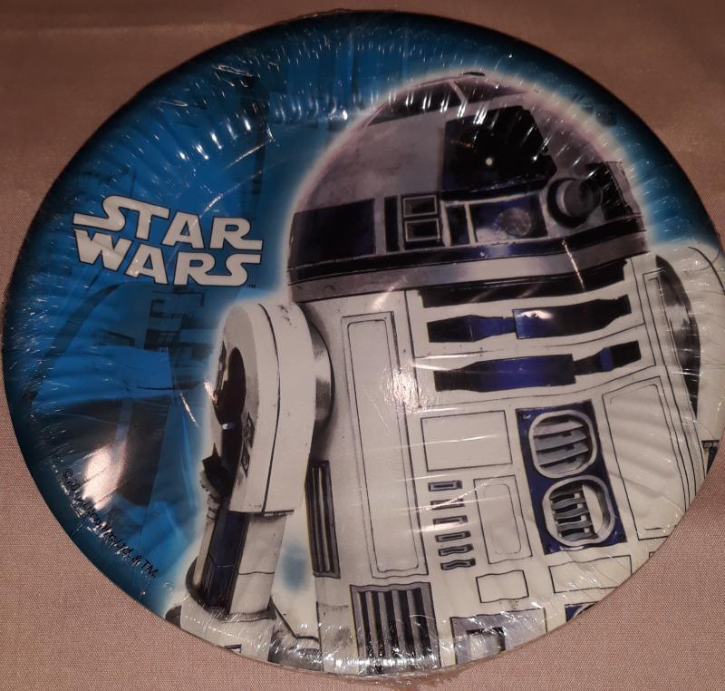 Star Wars R2D2 papírtányér, 19,5 cm, 8 db