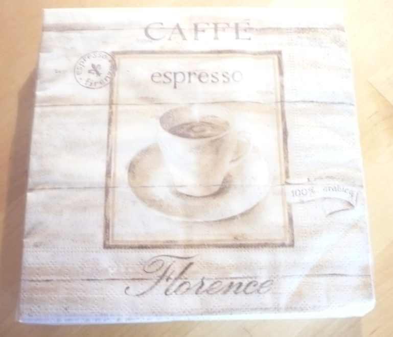 Szalvéta, Cafe Florance, 20 db, 33x33 cm, 140137