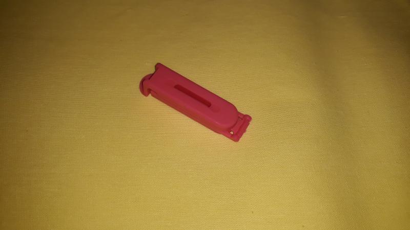 Tasak lezáró csipesz, műa., kicsi (5 cm), rózsaszín, P015