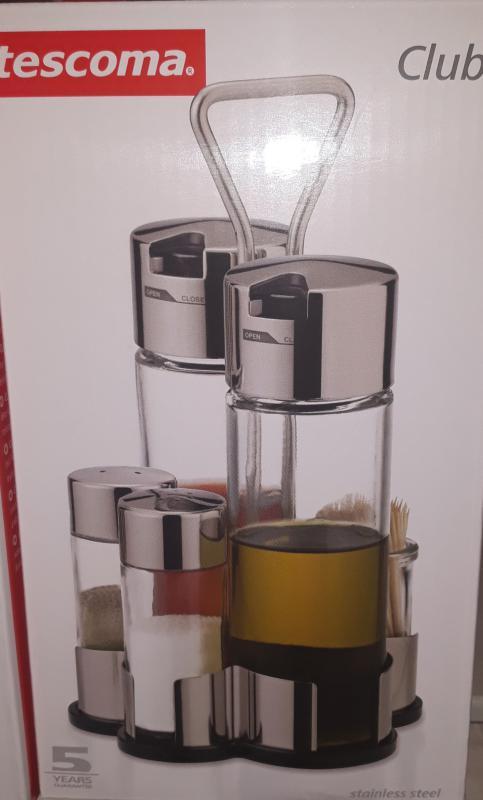 Tescoma Club ecet-olaj-fűszertartó, 5 részes, 650356