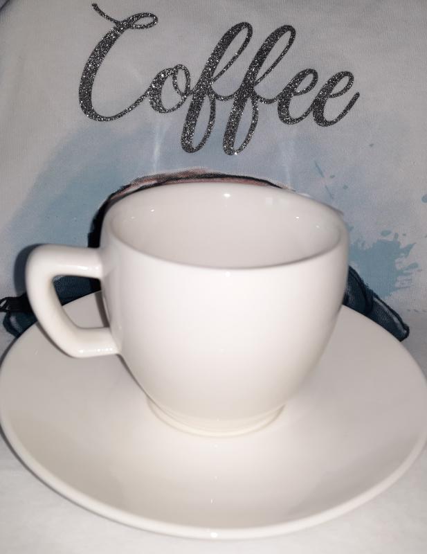 Tescoma Crema fehér porcelán mokkás csésze (10 cl)+ csészealj (11,5 cm), 139141
