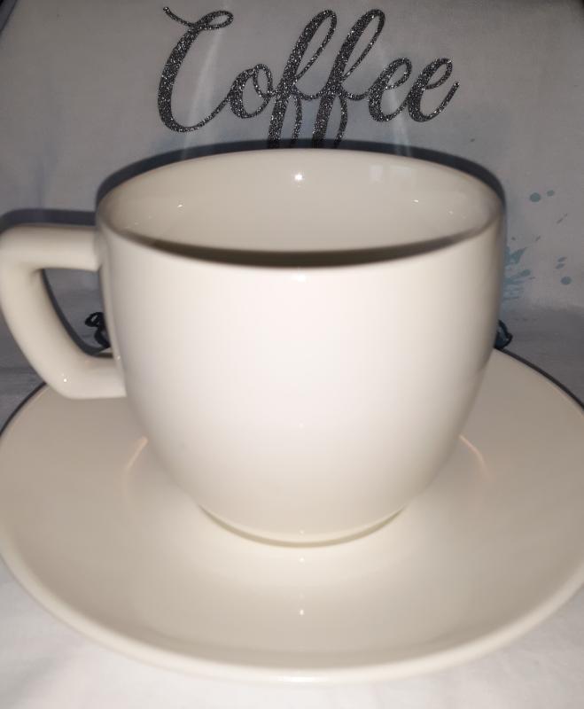 Tescoma Crema porcelán cappuccino csésze (20 cl)+csészealj (14 cm), 387124