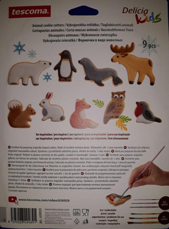 Tescoma Delícia állatos linzerkiszúró, 9 db, 630929