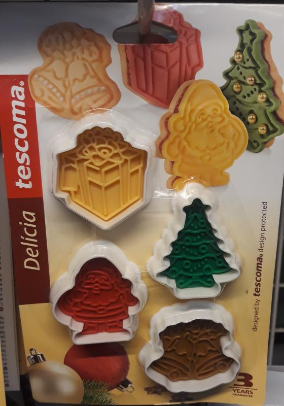 Tescoma Delícia karácsonyfa kiszúró+macipán díszítő, 4 db, 630857