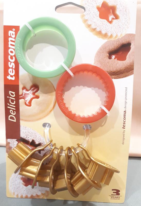 Tescoma Delícia karácsonyi műanyag linzer kiszúró, 2+6 db, 630912