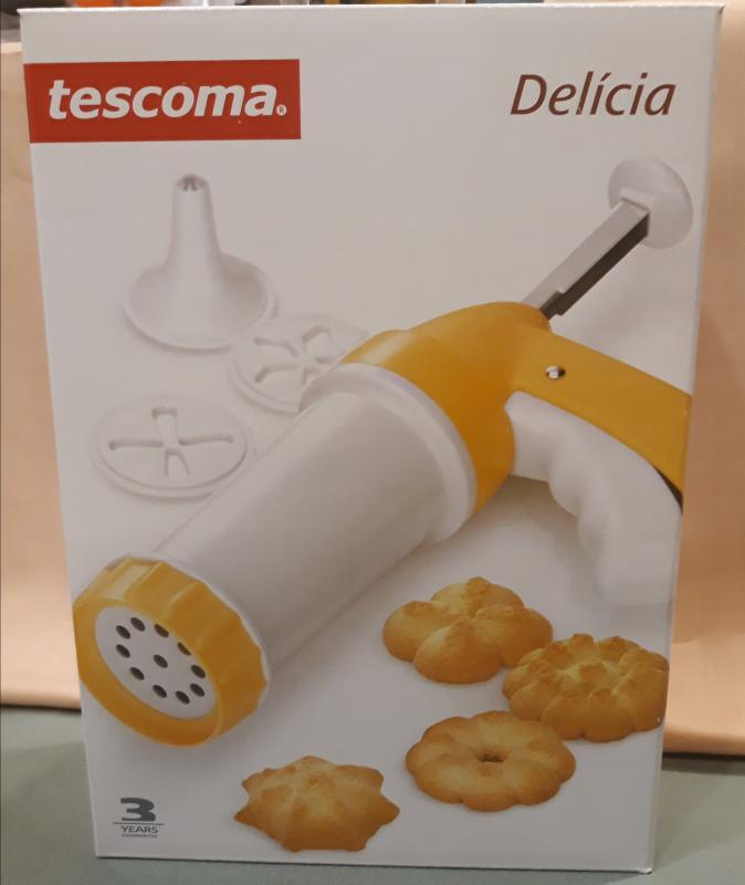 TESCOMA DELICIA Linzernyomó-dekoráló, sárga-fehér, 630534