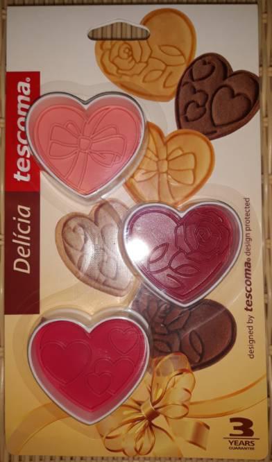 Tescoma Delícia műanyag linzerformázó, pecsét, szív, 3 db, 630856