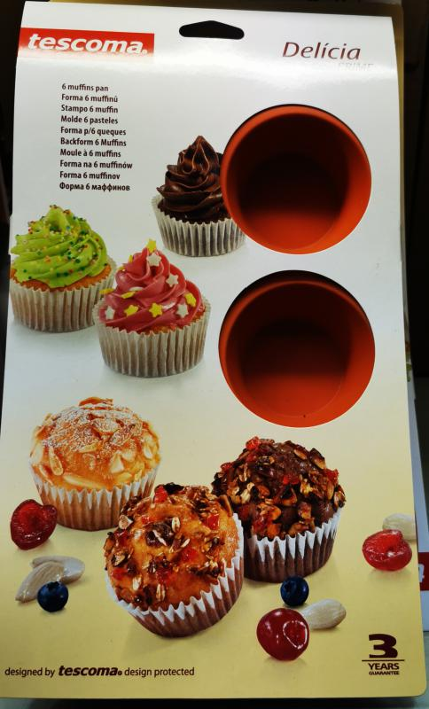 Tescoma Delícia silicon prime 6 lyukú sütőforma/muffinsütő, 629433