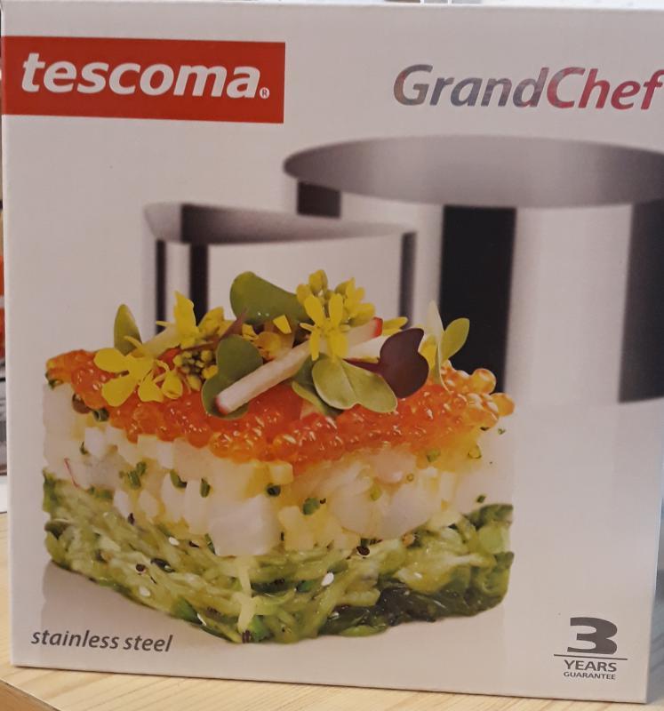 TESCOMA Grandchef ételformázó, rozsdamentes, 4 db, 428724