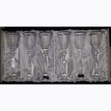 Bohemia kristály pohár ezüstszínű díszítéssel, likőrös, 6 db, 60 ml, 416067