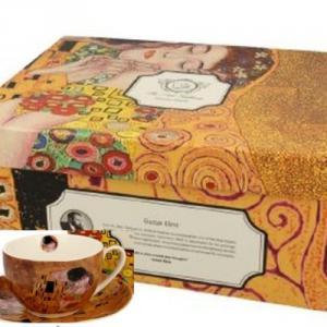 D.G.19698 Porceláncsésze+alj, 280ml, 6 személyes, Klimt: The Kiss
