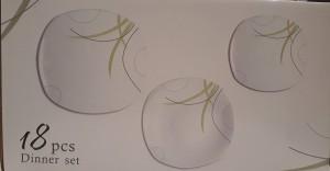 Homefavour Green Line porcelán étkészlet 18 részes, 251008