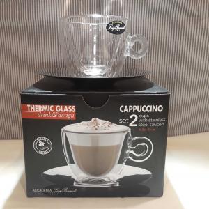 Luigi Bormioli Thermic Glass Cappuccino szett, duplafalú üveg csésze, 16,5 cl, 2 db, 198152