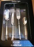 Mepra Milano rozsdamentes evőeszköz készlet fekete dobozban, 24 részes, 106002