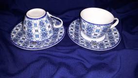 R2S Maiolica Blue porcelán espresso szett dobozban, 2 szett, 110 ml, R0921MAIB