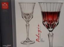 RCR Cristalleria Italiana Adagio talpas vörösboros pohár készlet, 28 cl, 6 db, 120008