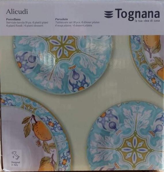 Tognana Alicudi 18 részes porcelán étkészlet