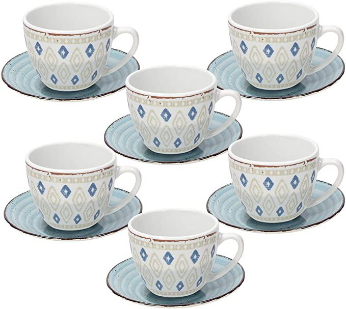Tognana Casablanca porcelán teáskészlet, 6 személyes, 22 cl, 155233