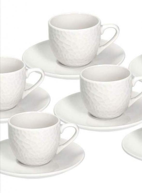 Tognana Golf fehér porcelán mokkás készlet 6 személyre , 9 cl