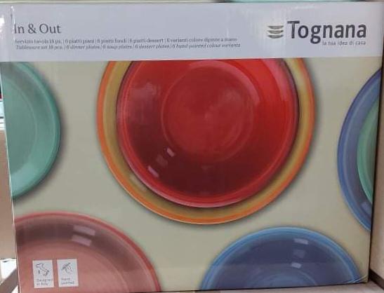 Tognana In&Out; 18 részes kerámia étkészlet