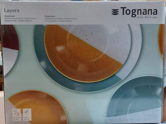 Tognana Layers 18 részes kerámia étkészlet