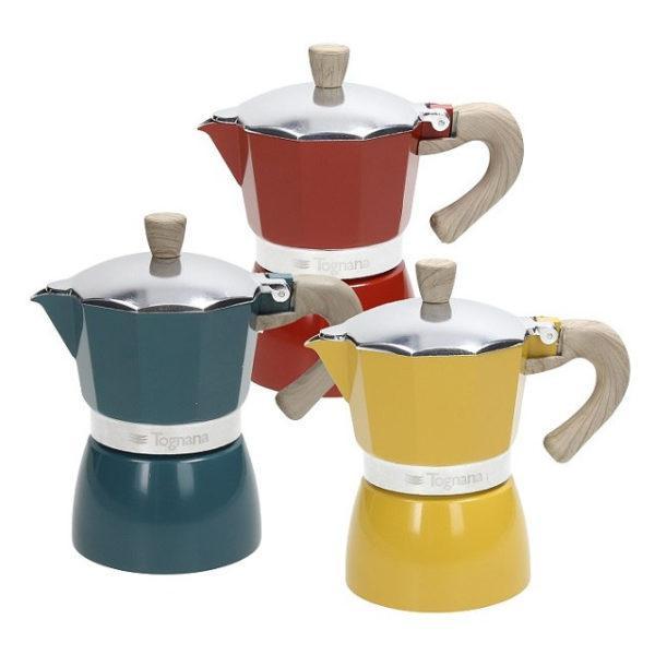 Tognana Vintage 3 személyes alumínium kávéfőző, vegyes színek