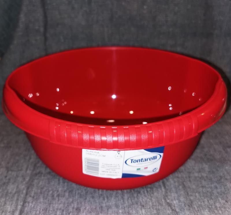 Tontarelli Aurora kerek műanyag tál, 28 cm, 4,5 liter, 122079
