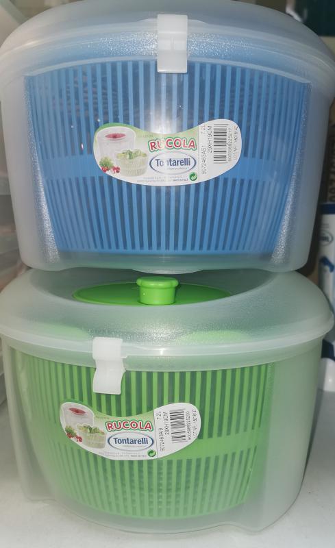 Tontarelli műanyag saláta centrifuga, 29X19 cm, 7,2 liter, 122201