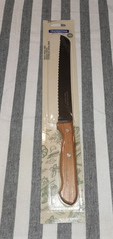 Tramontina Dynamic kenyérvágó kés fa nyéllel, 20 cm, 414088