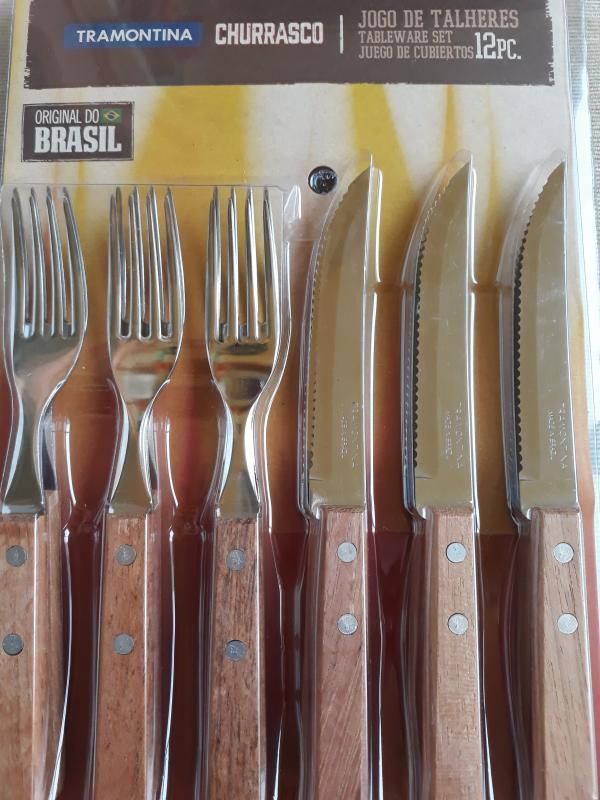Tramontina fanyelű Dynamic Churrasco kés és villakészlet, 12 db