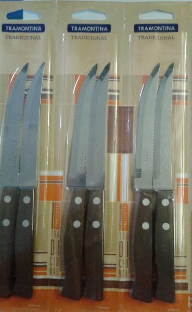 Tramontina fanyelű recés steak kés, 2 db, 414160