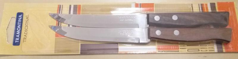 Tramontina fanyelű steak kés, sima, 2 db, 414042