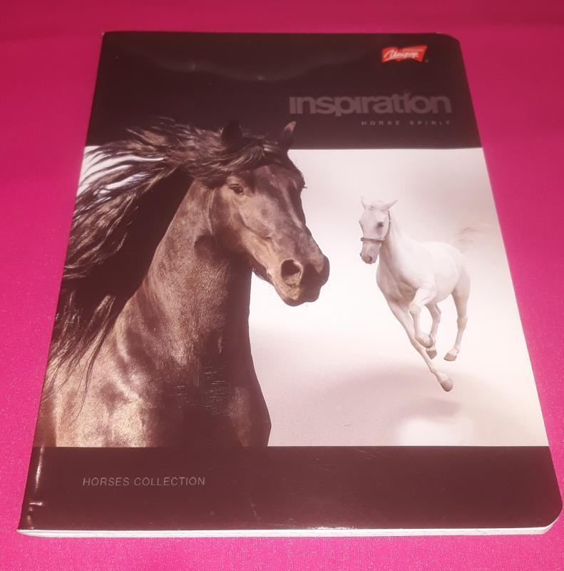 Unipap Horses Collection kisalakú négyzetrácsos-margós füzet (lovas), 32 lapos