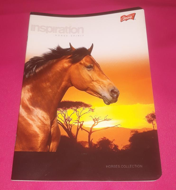 Unipap-Horses Collection-kisalakú vonalas füzet ( lovas), margós, 32 lapos