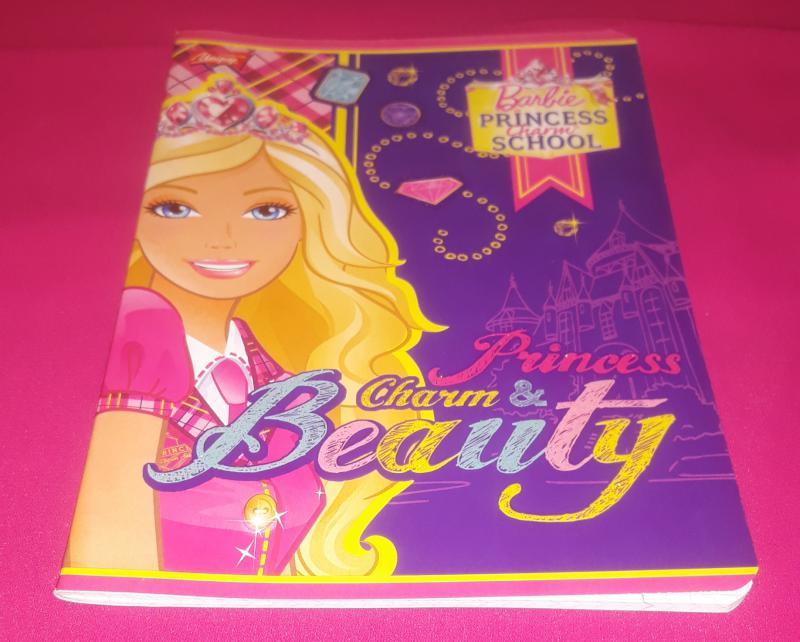 Unipap kisalakú négyzetrácsos füzet-Barbie princess charm school, 32 lapos