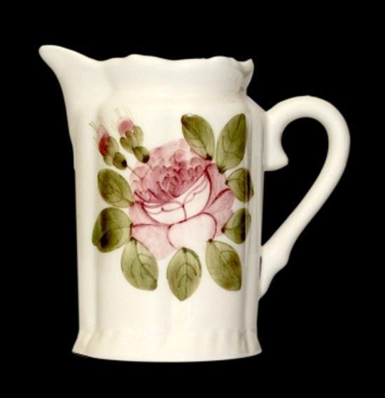 Vanilia Kerámia 44-02 Romantik rózsás tejkiöntő,kerámia,kézzel festett, V.K.44-02